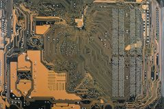 Abstract close-up Tech science background. Mother Board, Circuit Board, Technology concept.  royalty free stock images