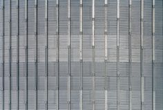 Abstract close-up of the texture of an aluminium grain silo. Pattern royalty free stock photography