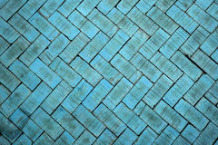 Abstract close up of a zigzag pattern blue brick (The brick on f Royalty Free Stock Photo