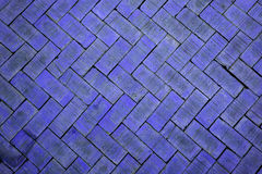 Abstract close up of a zigzag pattern dark blue brick (The brick Royalty Free Stock Image