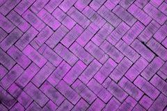 Abstract close up of a zigzag pattern magenta brick (The brick o Stock Photo