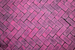 Abstract close up of a zigzag pattern pink brick (The brick on f Royalty Free Stock Photo