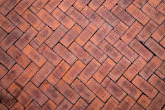 Abstract close up of a zigzag pattern red brick (The brick on fl Stock Photography