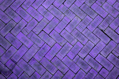 Abstract close up of a zigzag pattern violet brick (The brick on Royalty Free Stock Images