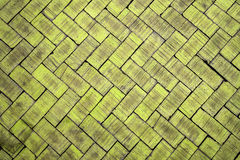 Abstract close up of a zigzag pattern yellow brick (The brick on Royalty Free Stock Images