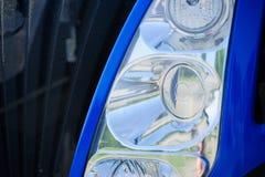 Abstract Close-updetail van een Koplamp van de Tractorvrachtwagen Royalty-vrije Stock Fotografie