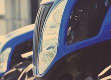 Abstract Close-updetail van een Koplamp van de Tractorvrachtwagen Royalty-vrije Stock Afbeelding