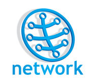 Abstract closed network icon Stock Photos