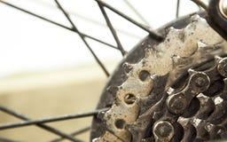 Abstract closeup of bicycle gear Stock Photos