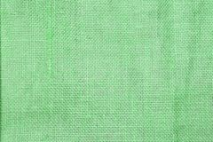 Abstract closeup green hessian texture background. Hessian fiber pattern background stock photo