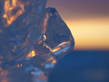 Abstract closeup of ice Stock Images