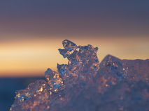 Abstract closeup of ice Royalty Free Stock Photo