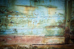 Abstract closeup of old abandoned ships hull. Royalty Free Stock Photos
