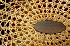 Abstract Closeup of Patterns and Texture on Wicker Chair Royalty Free Stock Photography