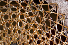 Abstract  Closeup of Patterns and Textures on Wicker Weave on C Royalty Free Stock Images
