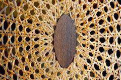 Abstract Closeup of Patterns and Textures On Wicker Weave Royalty Free Stock Images