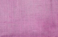 Abstract closeup pink hessian texture background. Blank pink fiber pattern background stock photo