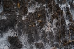 Abstract closeup of salt plains rock texture in Kissama, Bengo stock photography