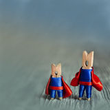 Abstract clothespin super heroes. copy space for your design Stock Photo