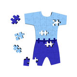 Abstract clothing puzzle Royalty Free Stock Photography
