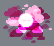 Abstract cloud background. Japanese style design - pink and gray colors vector Royalty Free Stock Photography