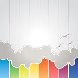 Abstract Cloud Background. An illustration of a simple abstract cloud background Royalty Free Stock Photography