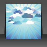Abstract cloud background flyer design Stock Image