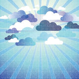 Abstract cloud background puzzle Stock Photography