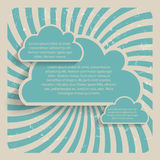 Abstract Cloud Background Vector Illustration Royalty Free Stock Images