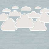 Abstract Cloud on blue background Stock Image
