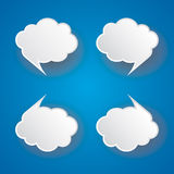 Abstract cloud bubble tag Stock Photography