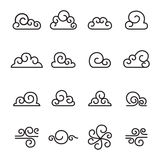 Abstract Cloud , Chinese Cloud , Curl cloud icon set Stock Photos
