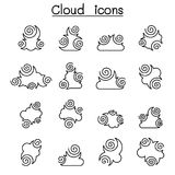 Abstract Cloud , Chinese Cloud , Curl cloud ,cloud icon set Stock Images