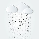 Abstract cloud computing black and white illustration Stock Photography
