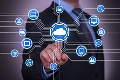 Abstract Cloud Computing Concept Royalty Free Stock Image