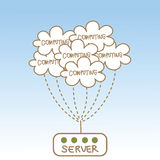 Abstract of cloud computing server Stock Image