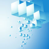 Abstract cloud of cubes Stock Image