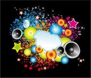 abstract cloud dancing flyer διανυσματική απεικόνιση