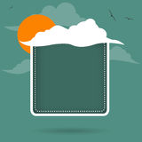 Abstract cloud frame Royalty Free Stock Photos