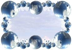 Abstract cloud frame background royalty free stock photo