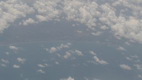Abstract cloud Natural movements of airplane stock video footage