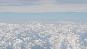 Abstract cloud Natural movements of airplane footage stock footage