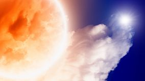 Abstract cloud planet in space Stock Photography