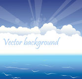 Abstract cloud and sea background. Vector illustration Abstract cloud and sea background Stock Photos