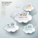 Abstract cloud shape infographics. 3d vector abstract cloud shape infographic elements Stock Image