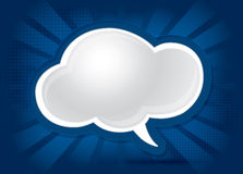 Abstract cloud shaped background. Blue illustration royalty free illustration
