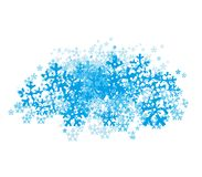 Abstract cloud of snowflakes. Stock Photography