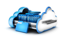 Abstract cloud storage. And file. 3d illustration Royalty Free Stock Photos