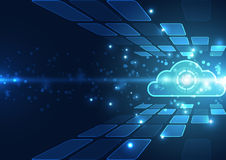 Abstract cloud technology in the future background, vector illustration. Innovation vector illustration