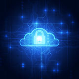 Abstract cloud technology in the future background, vector illustration Stock Images